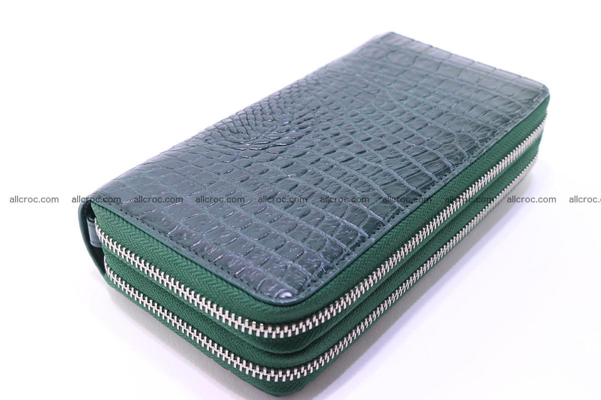 Crocodile wallet with 2 zips 315 Foto 11