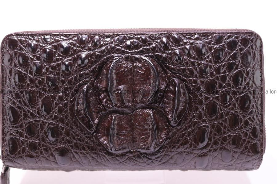 Crocodile wallet with 2 zips 317