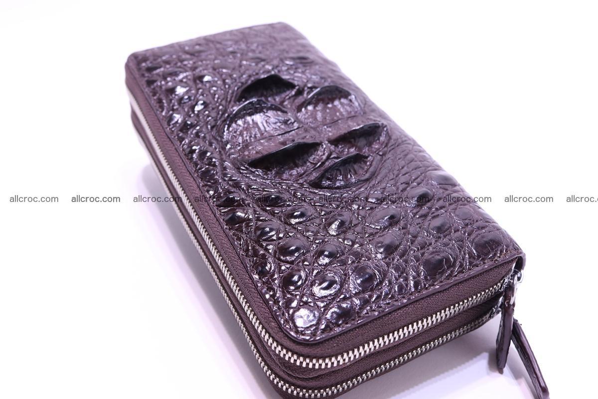 Crocodile wallet with 2 zips 317 Foto 2