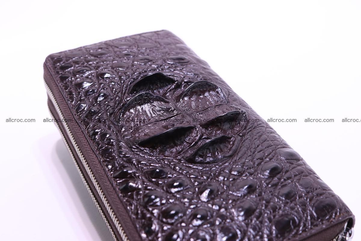 Crocodile wallet with 2 zips 317 Foto 3