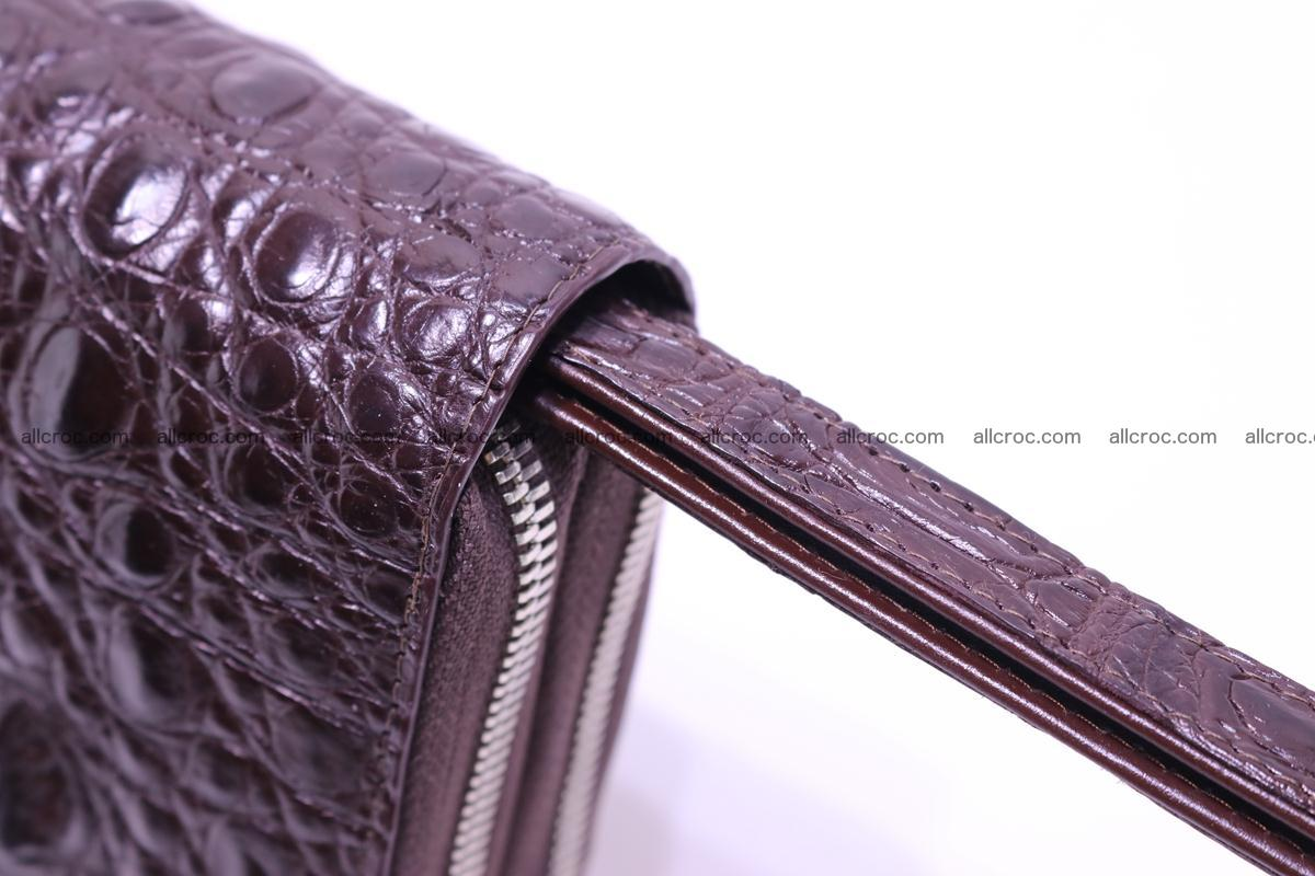 Crocodile wallet with 2 zips 317 Foto 8