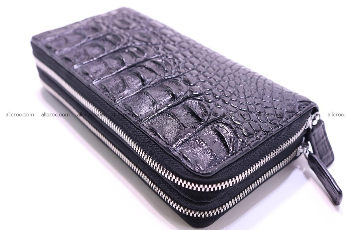 Crocodile wallet with 2 zips 304 Foto 8