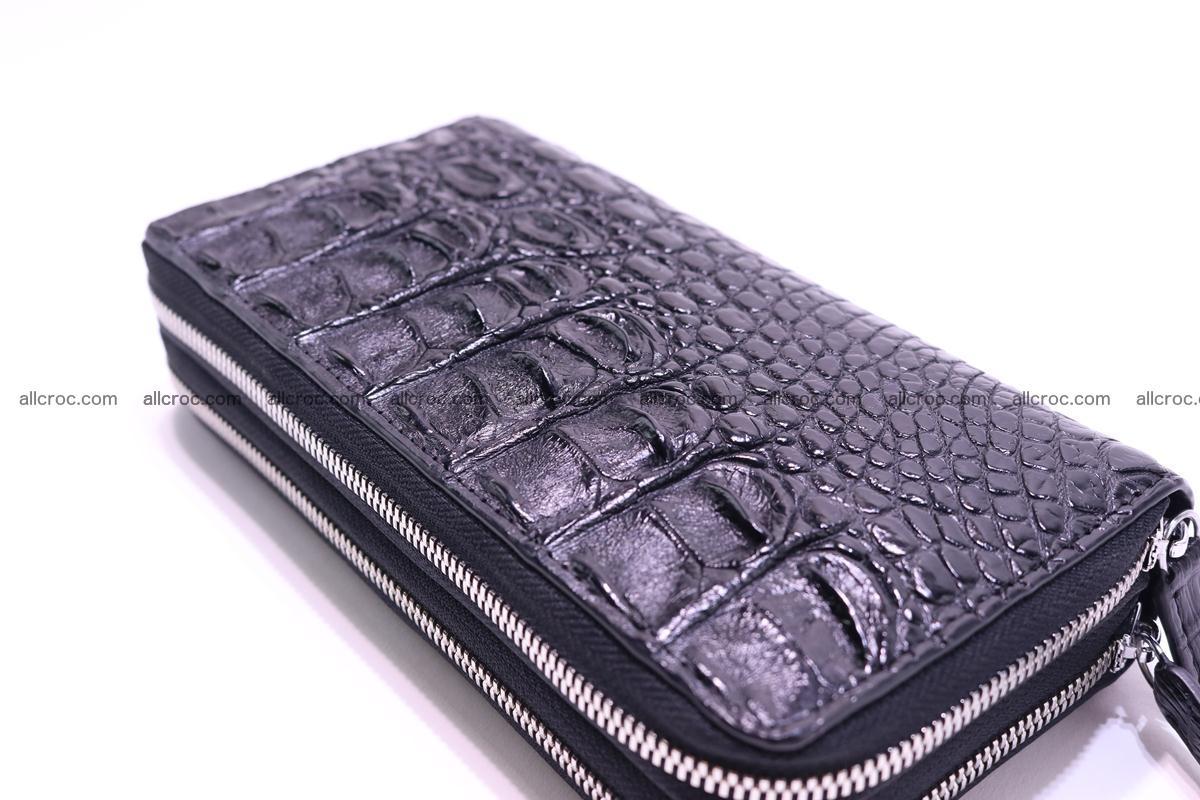 Crocodile wallet with 2 zips 304 Foto 9