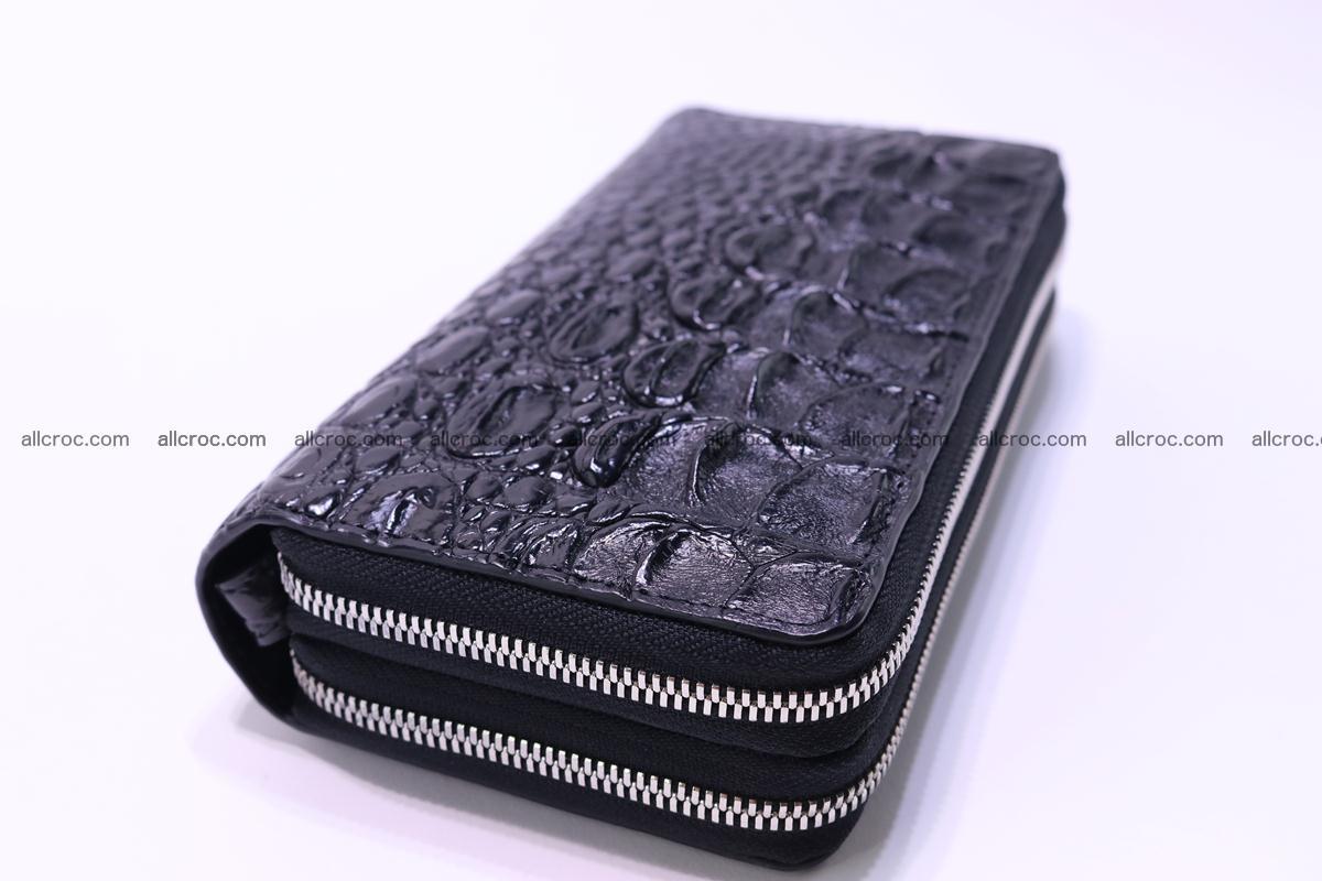Crocodile wallet with 2 zips 304 Foto 4