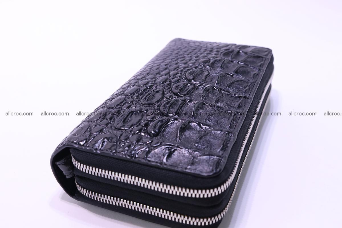 Crocodile wallet with 2 zips 304 Foto 5