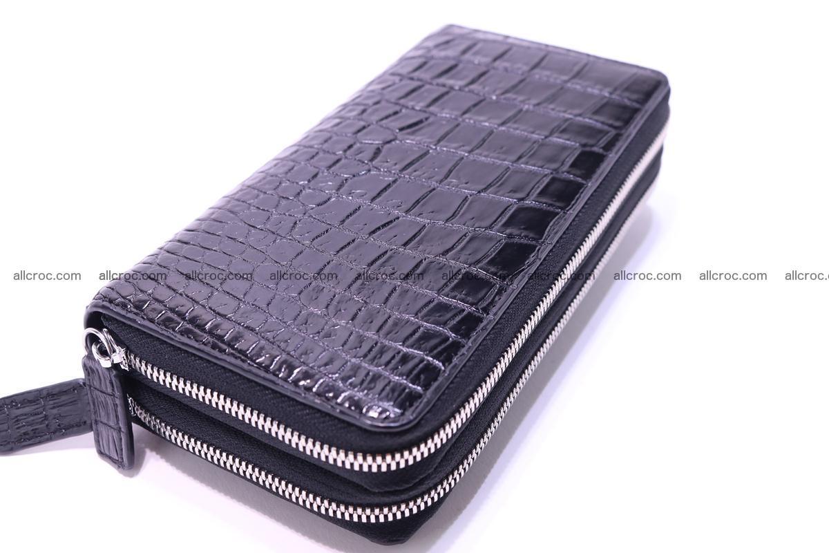 Crocodile wallet with 2 zips 304 Foto 6