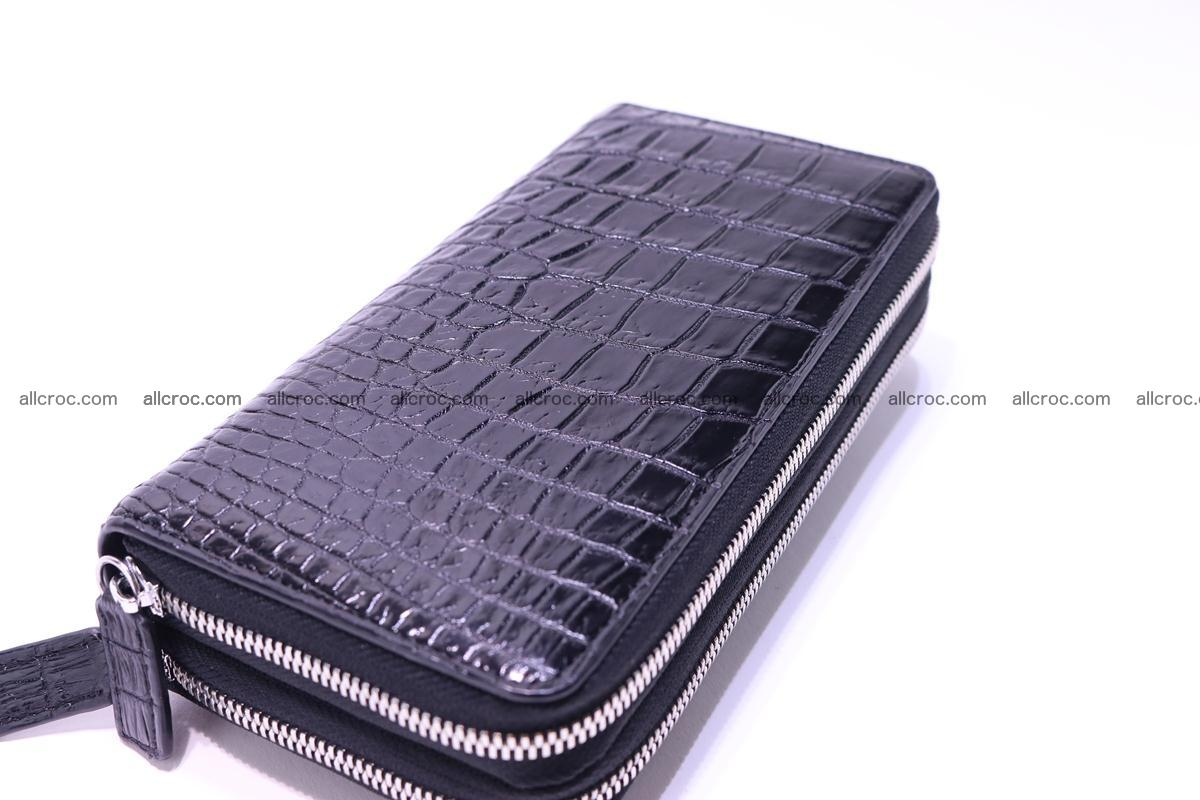 Crocodile wallet with 2 zips 304 Foto 7