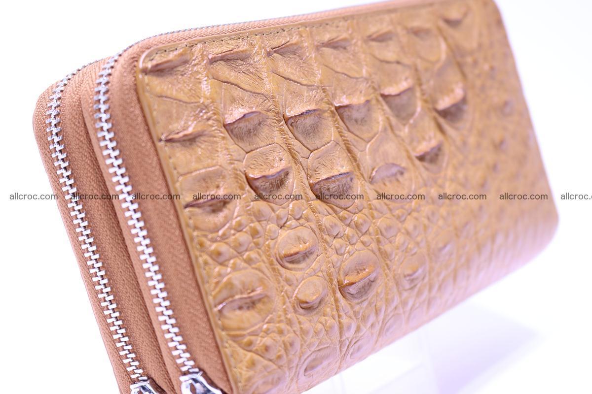 Crocodile wallet with 2 zips 303 Foto 2