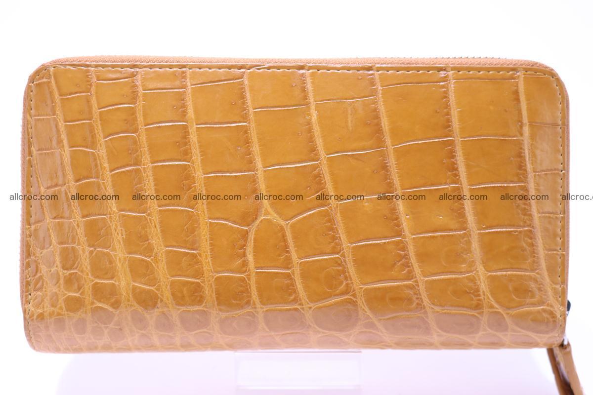 Crocodile wallet with 2 zips 303 Foto 4