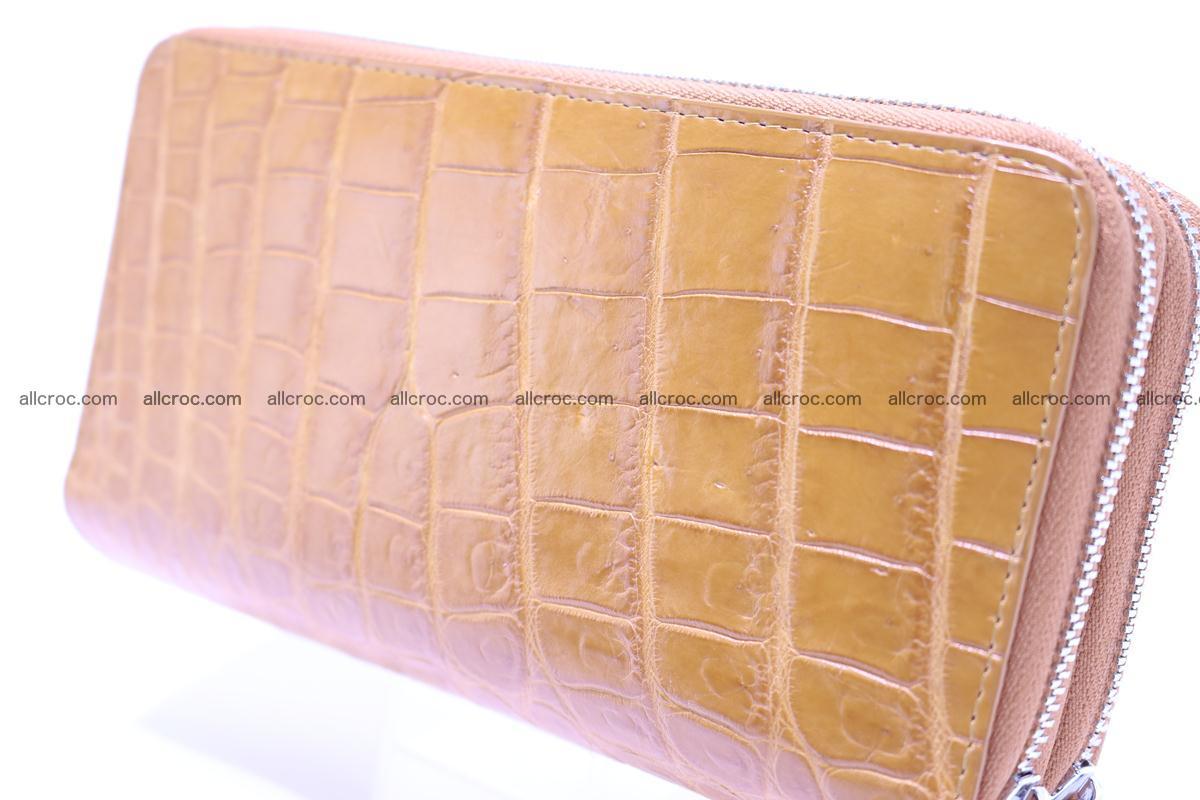 Crocodile wallet with 2 zips 303 Foto 5