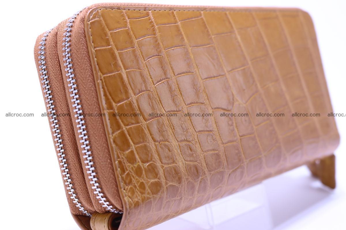 Crocodile wallet with 2 zips 303 Foto 6