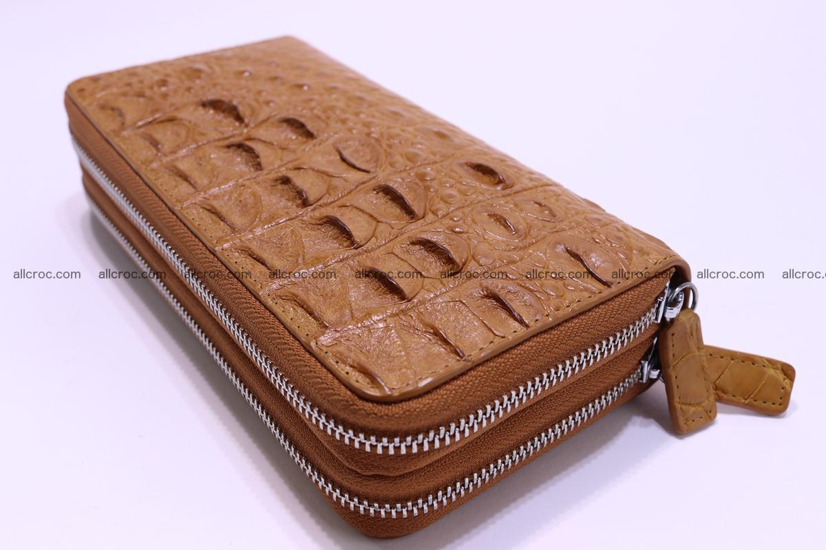Crocodile wallet with 2 zips 303 Foto 9