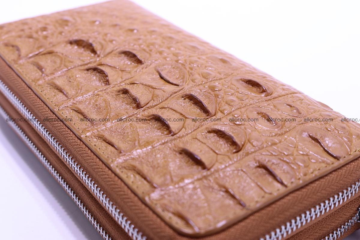 Crocodile wallet with 2 zips 303 Foto 11