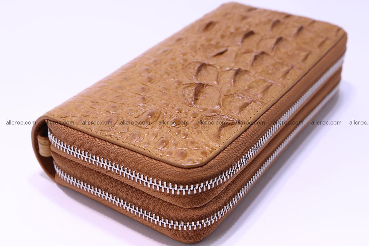 Crocodile wallet with 2 zips 303 Foto 8