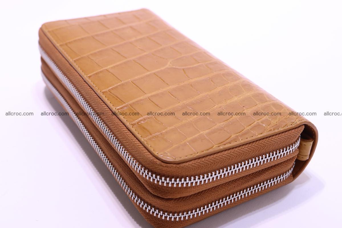 Crocodile wallet with 2 zips 303 Foto 7