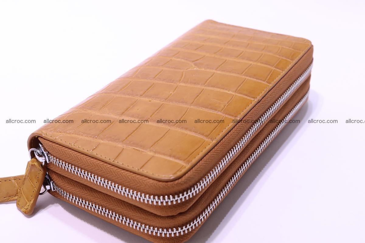 Crocodile wallet with 2 zips 303 Foto 13