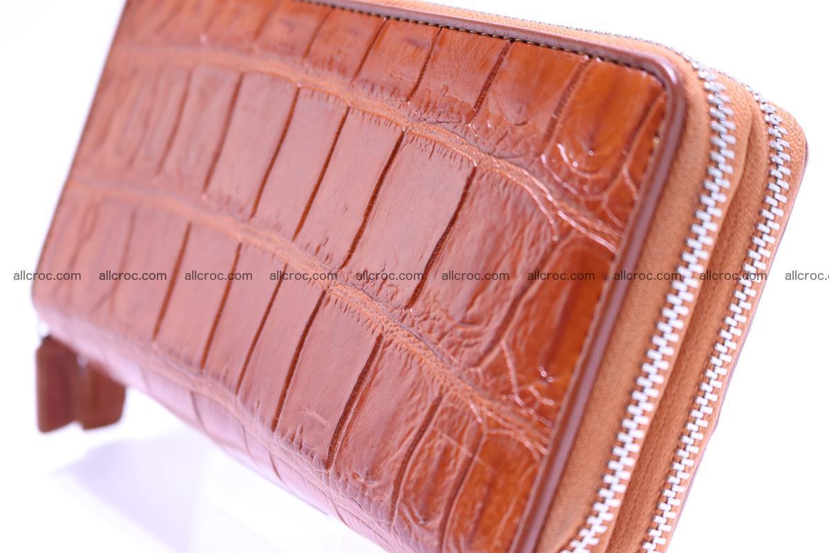 Crocodile wallet with 2 zips 305 Foto 2