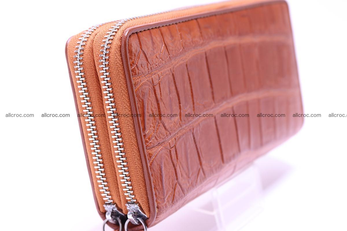Crocodile wallet with 2 zips 305 Foto 4