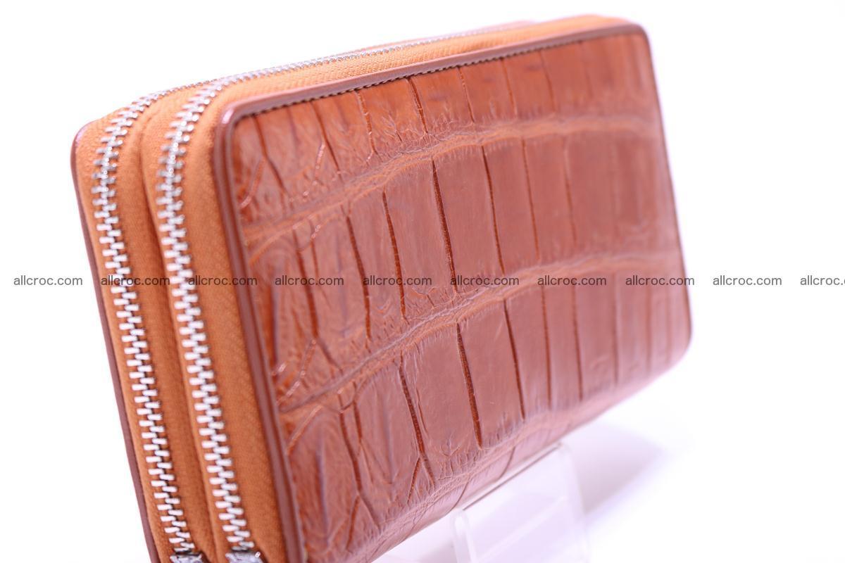 Crocodile wallet with 2 zips 305 Foto 5