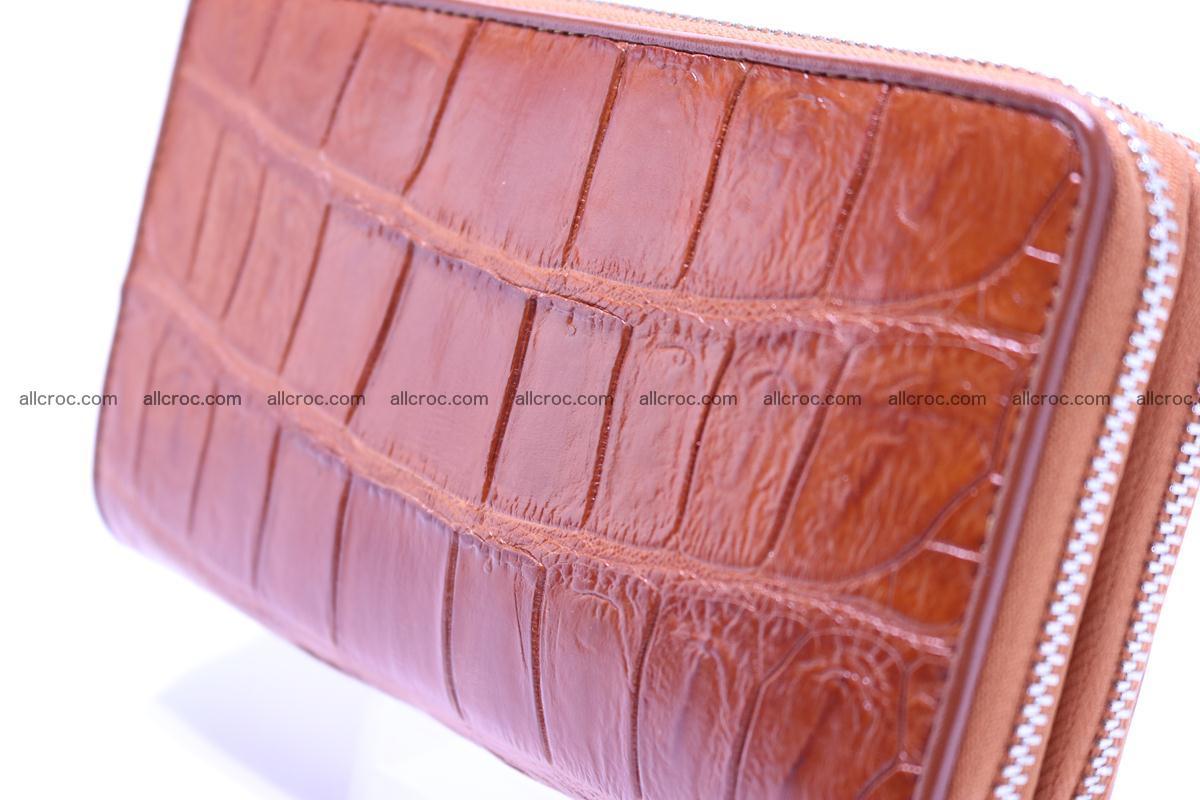 Crocodile wallet with 2 zips 305 Foto 6