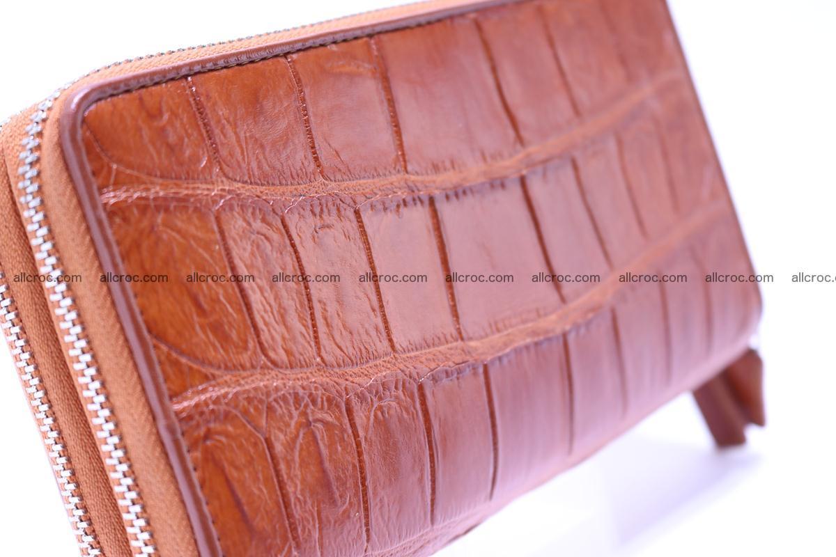 Crocodile wallet with 2 zips 305 Foto 7