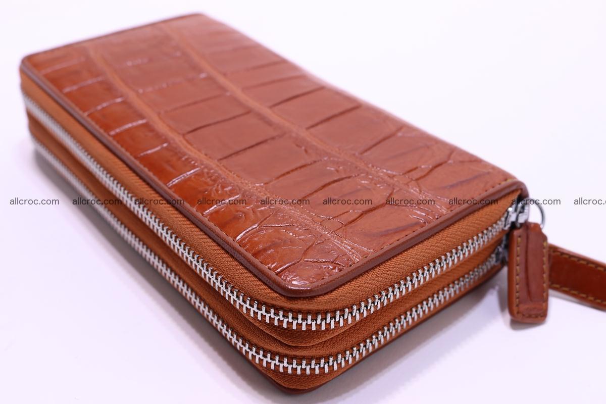 Crocodile wallet with 2 zips 305 Foto 8