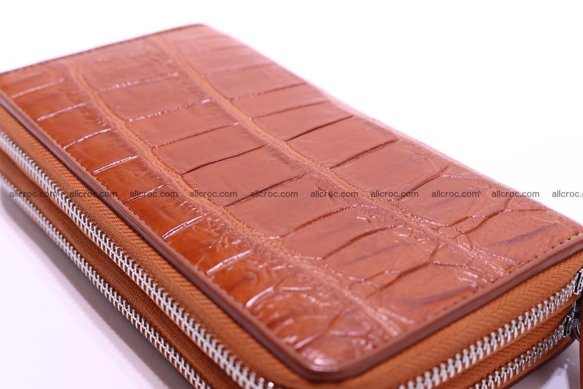 Crocodile wallet with 2 zips 305 Foto 9