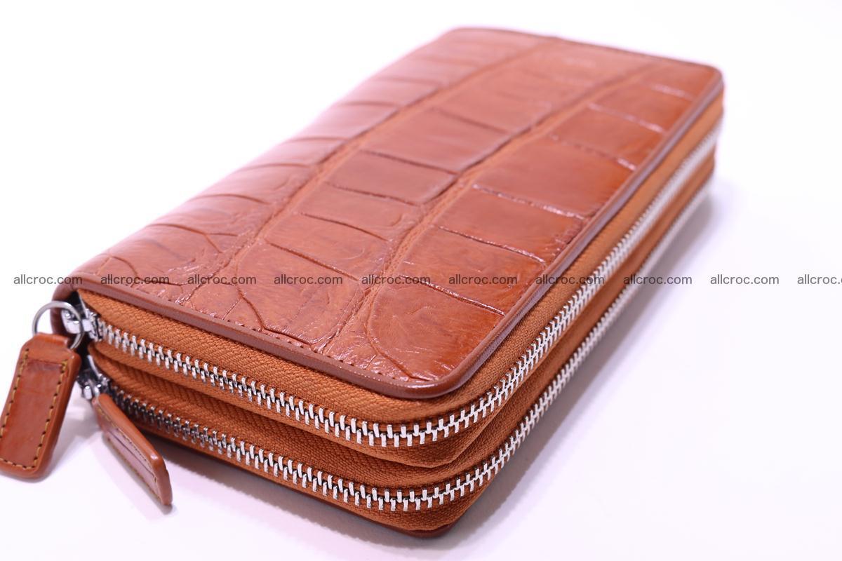 Crocodile wallet with 2 zips 305 Foto 10