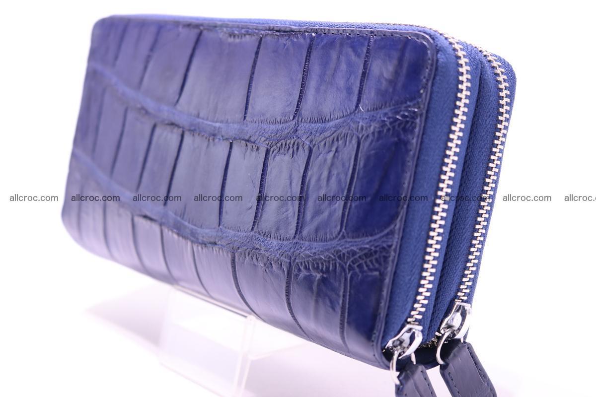 Crocodile wallet with 2 zips 306 Foto 4