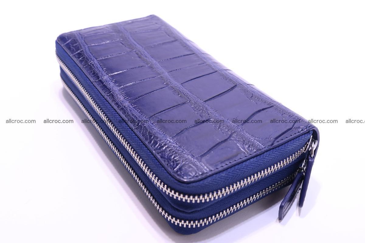 Crocodile wallet with 2 zips 306 Foto 6