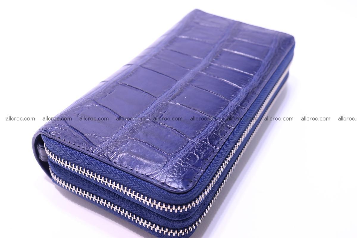 Crocodile wallet with 2 zips 306 Foto 7
