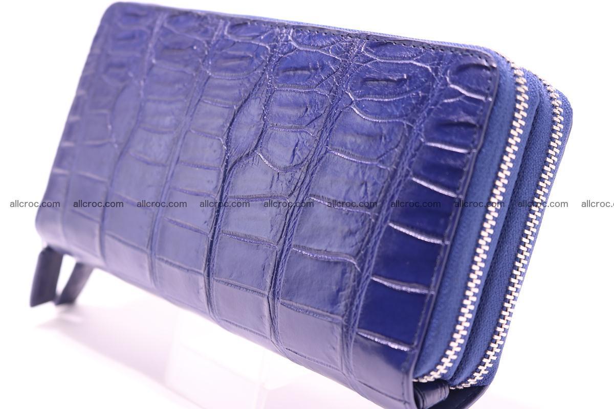 Crocodile wallet with 2 zips 307 Foto 4
