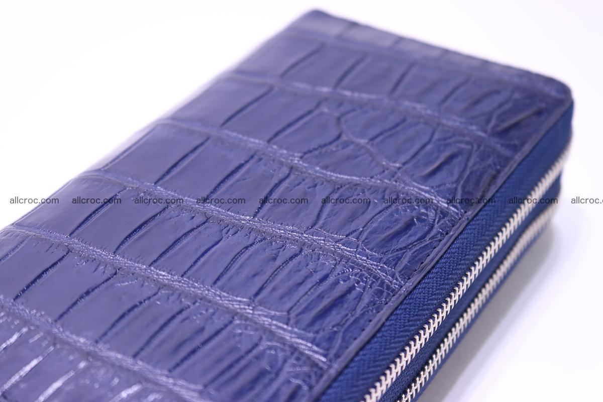 Crocodile wallet with 2 zips 307 Foto 8