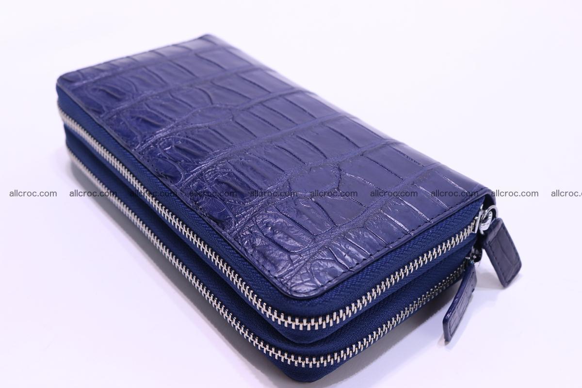 Crocodile wallet with 2 zips 307 Foto 9