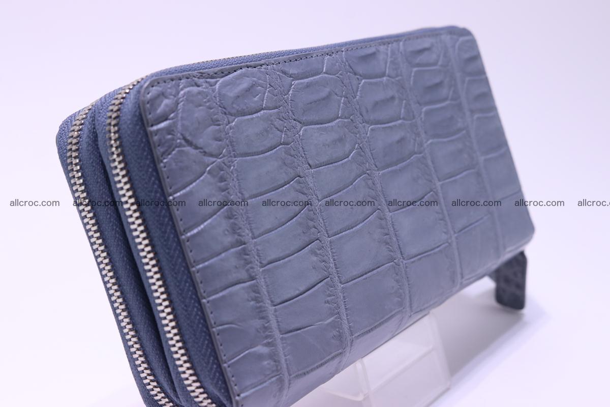 Crocodile wallet with 2 zips 308 Foto 4