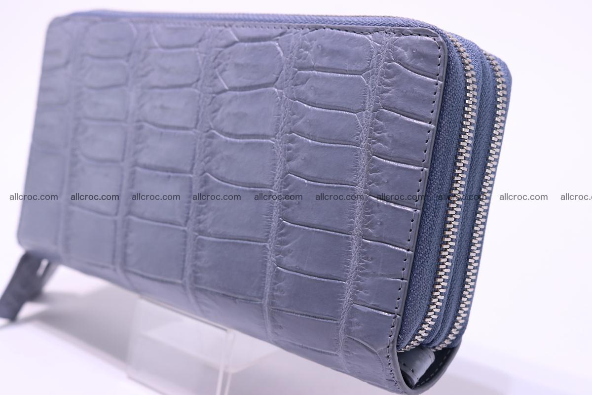 Crocodile wallet with 2 zips 308 Foto 5