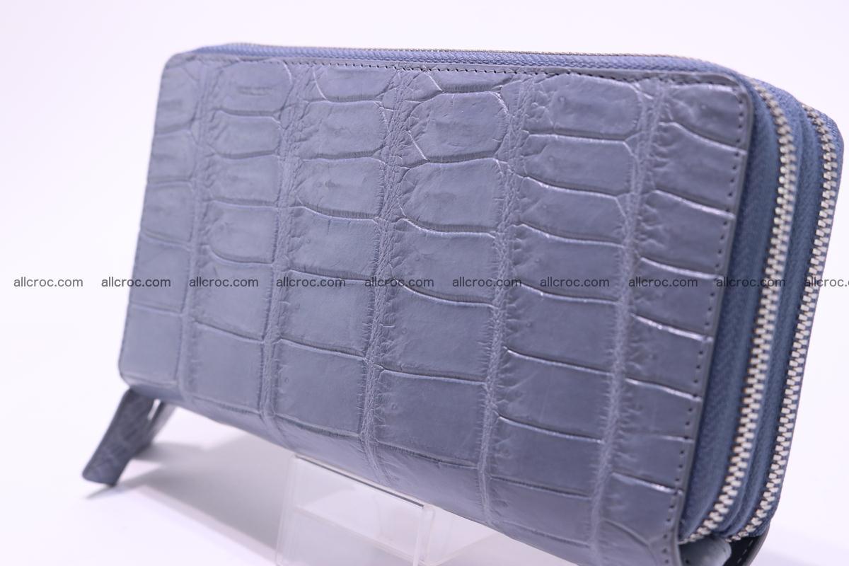 Crocodile wallet with 2 zips 308 Foto 9