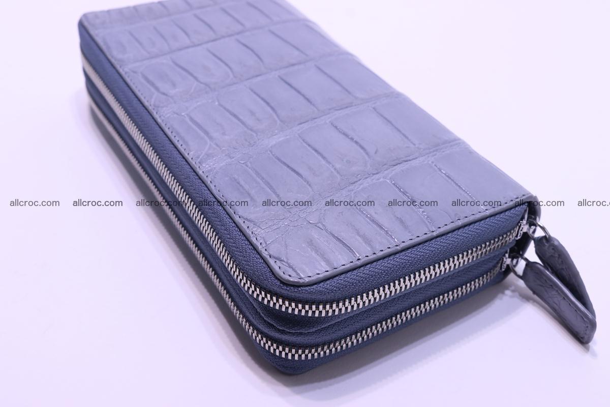 Crocodile wallet with 2 zips 308 Foto 10