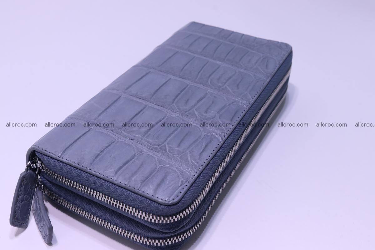 Crocodile wallet with 2 zips 308 Foto 7