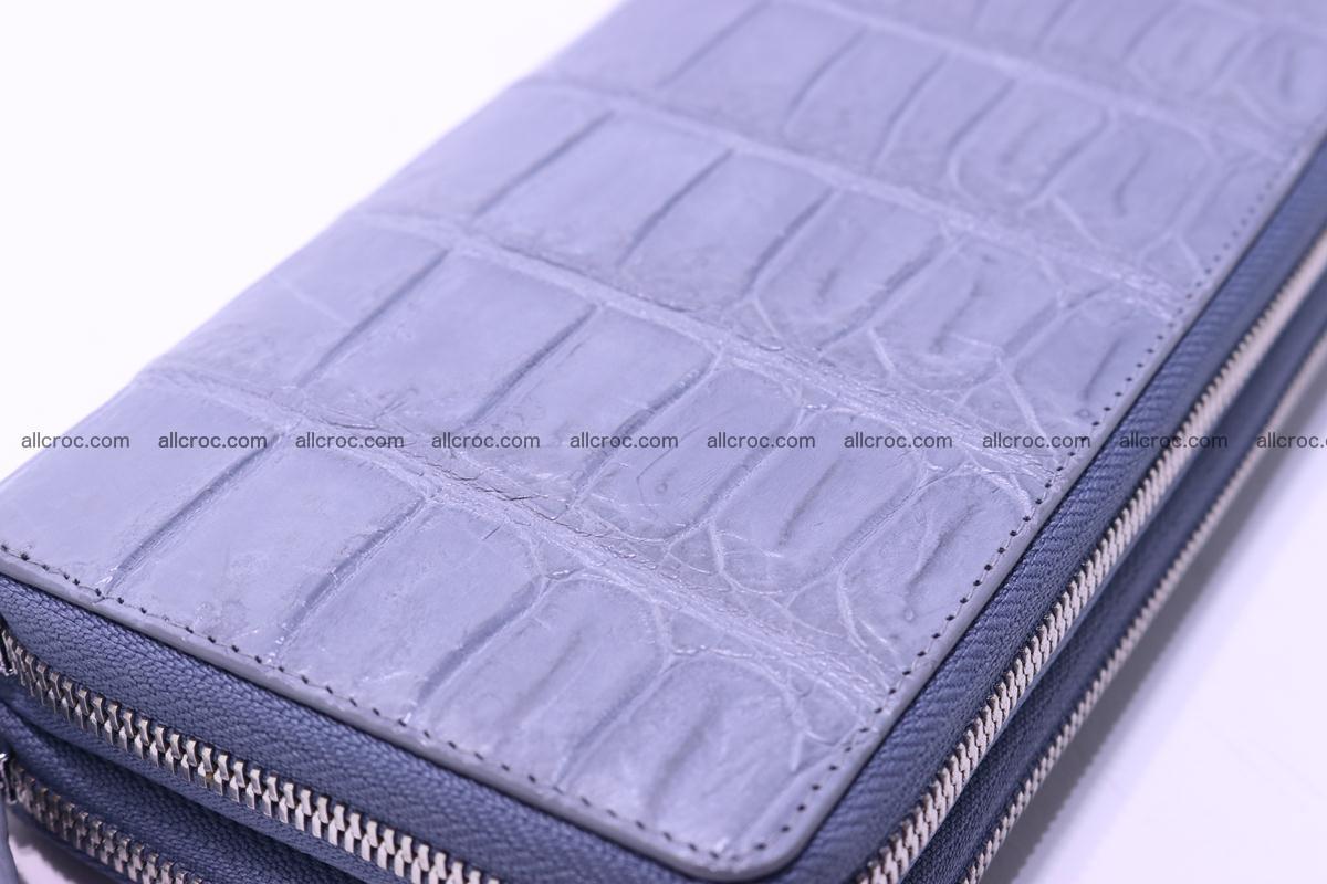 Crocodile wallet with 2 zips 308 Foto 8
