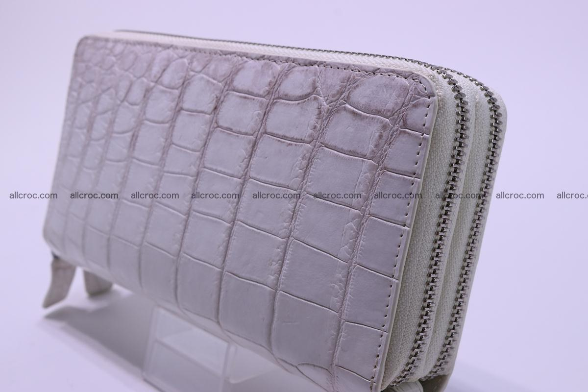 Crocodile wallet with 2 zips 309 Foto 2