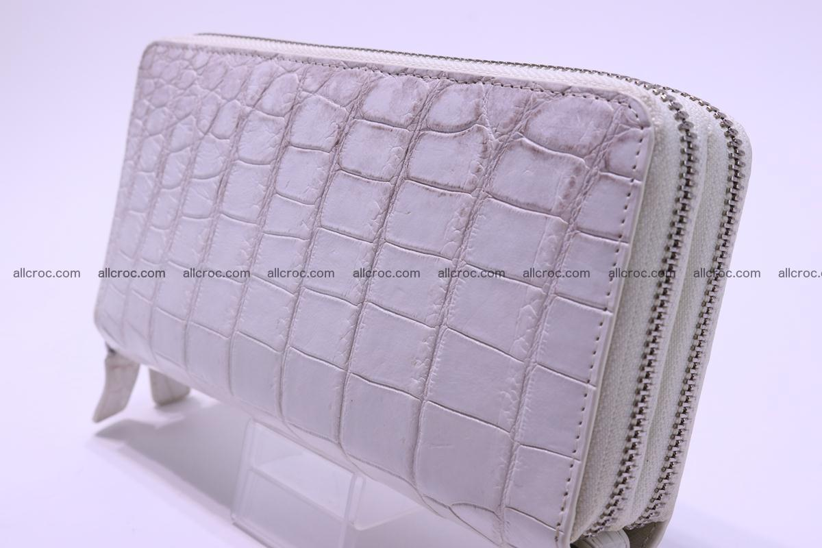 Crocodile wallet with 2 zips 309 Foto 3