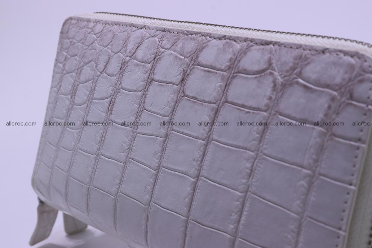 Crocodile wallet with 2 zips 309 Foto 4