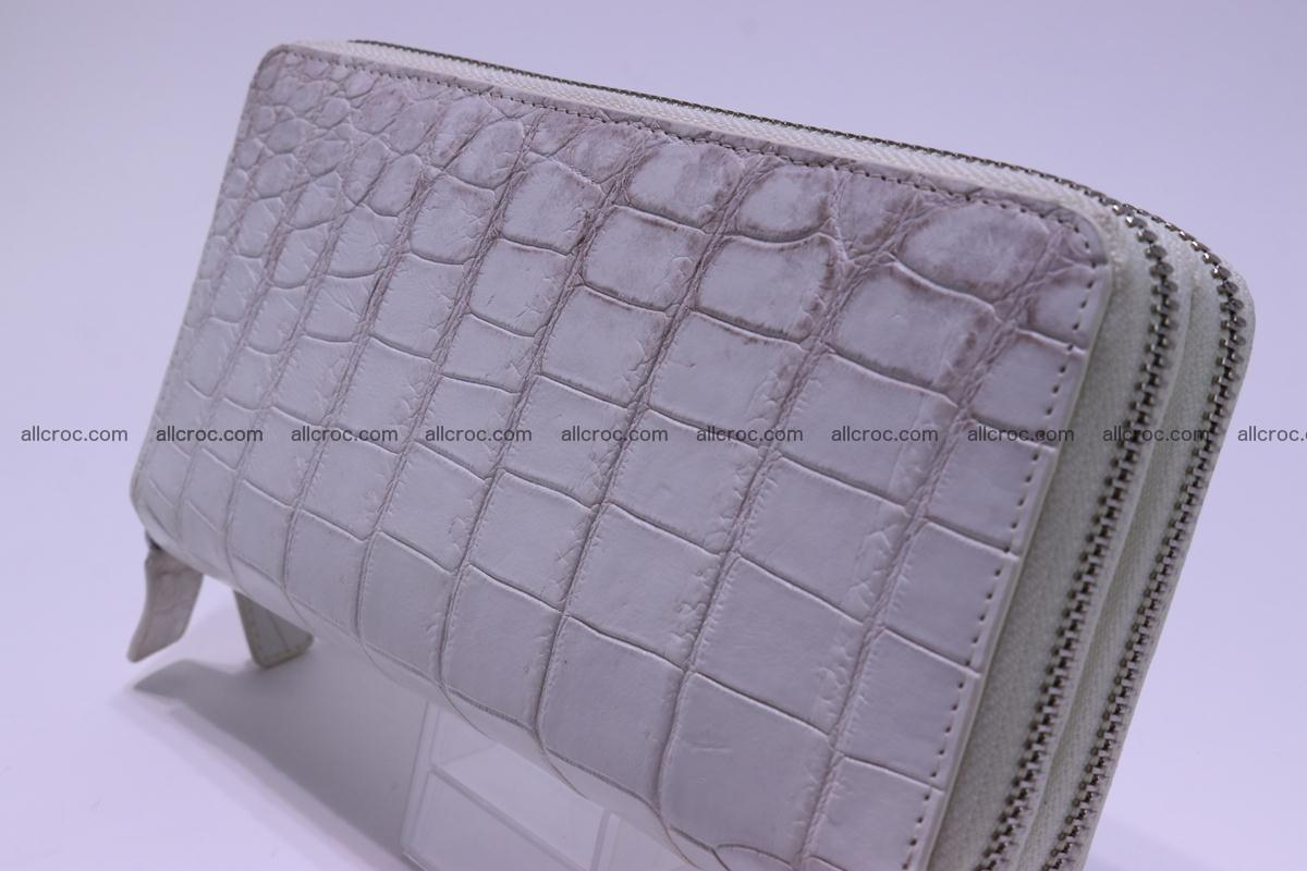 Crocodile wallet with 2 zips 309 Foto 5