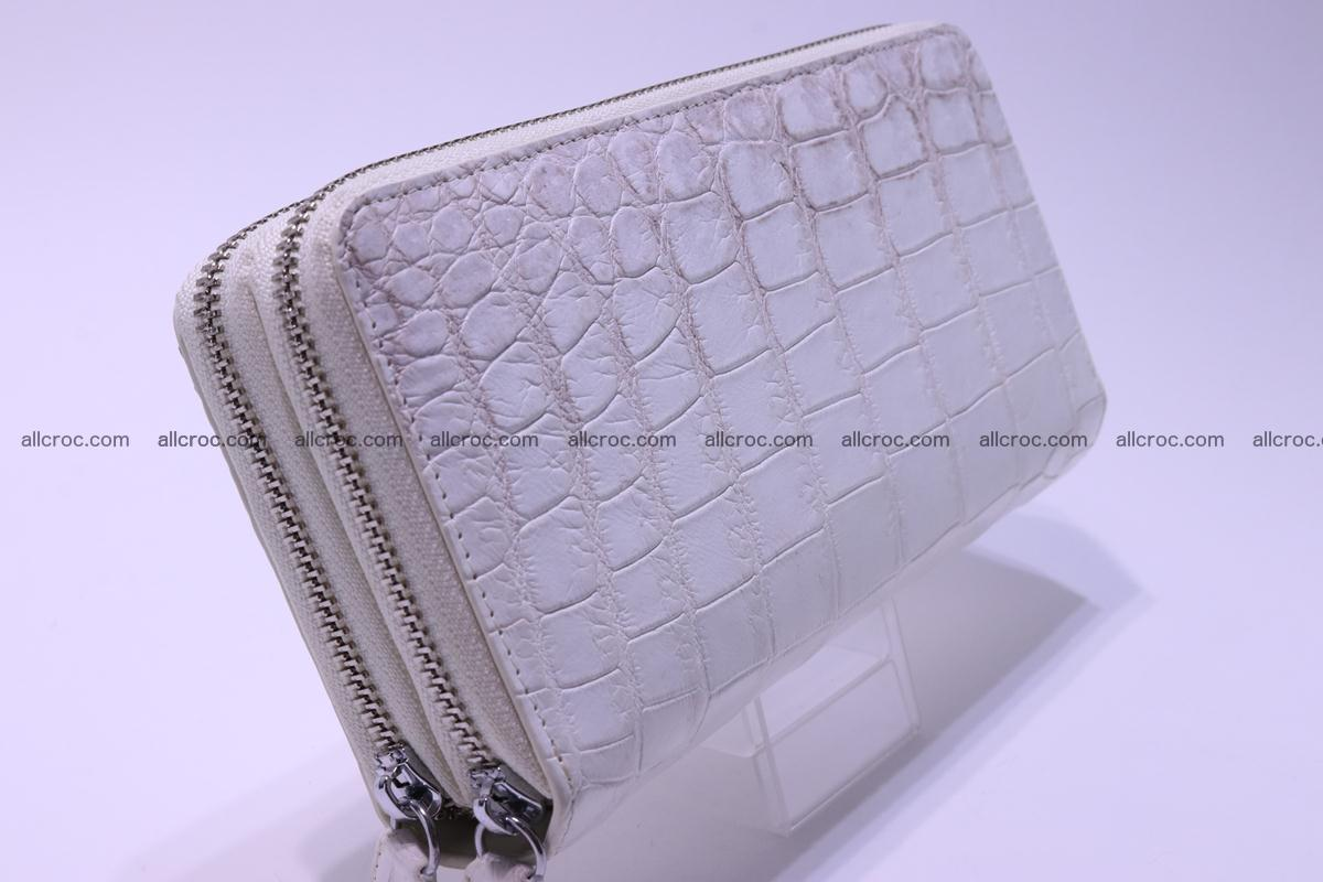 Crocodile wallet with 2 zips 309 Foto 7