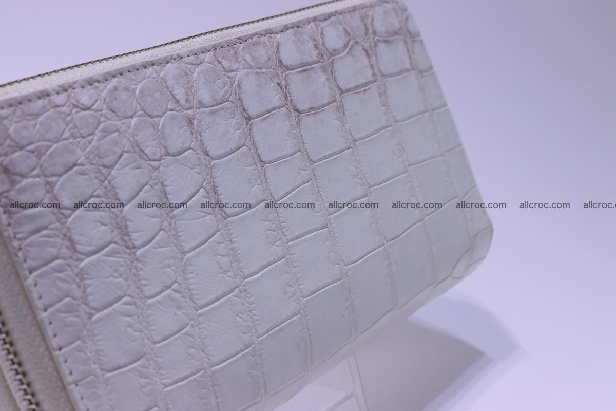 Crocodile wallet with 2 zips 309 Foto 8