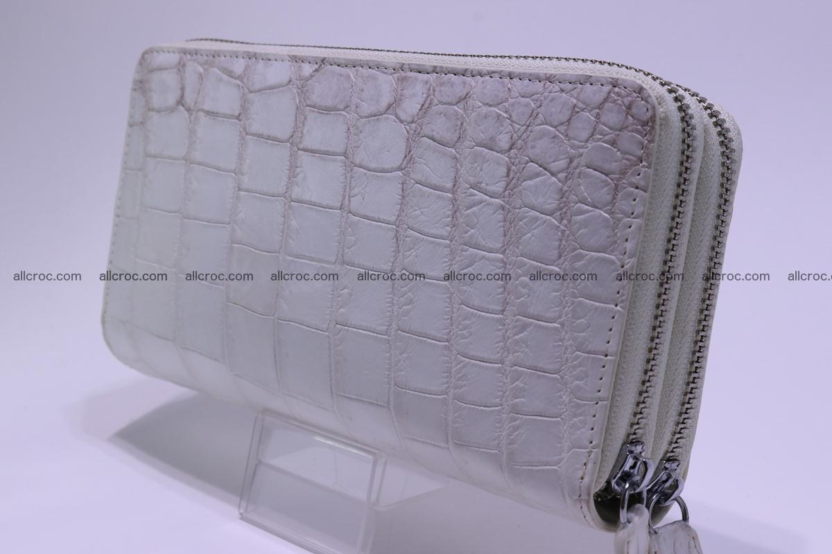 Crocodile wallet with 2 zips 309 Foto 13