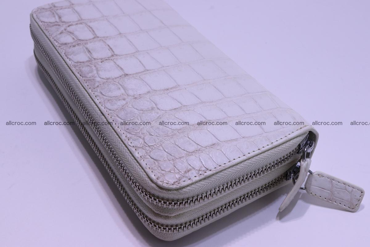Crocodile wallet with 2 zips 309 Foto 10
