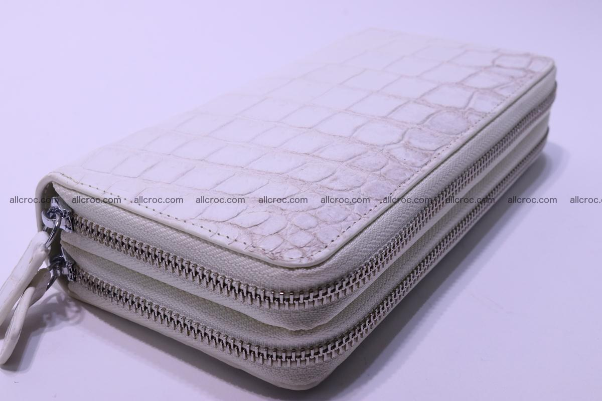 Crocodile wallet with 2 zips 309 Foto 14