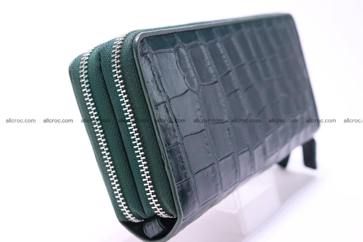 Crocodile wallet with 2 zips 310 Foto 4
